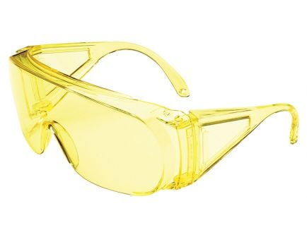 Howard Leight HL100 Shooter's Wraparound 1-Piece Safety Eyewear, Amber Lens, 4/case - R-01702