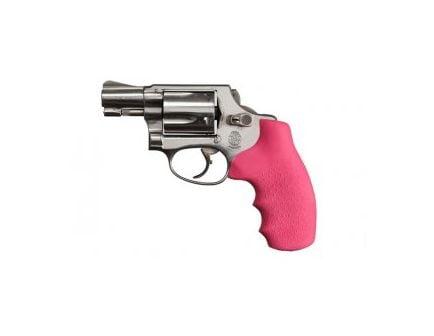 Hogue Monogrip Grips S&W J-Frame Round Butt Pink Rubber 60007