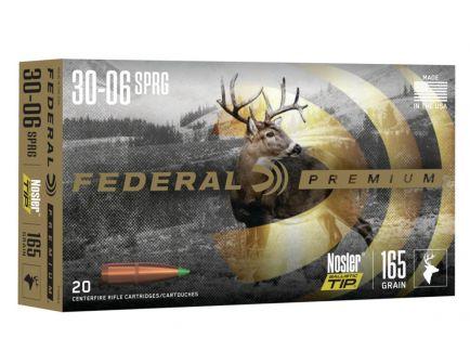 Federal Nosler Ballistic Tip .30-06 Springfield Ammo 20 Rounds Ammunition - P3006Q