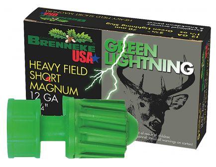 """Brenneke USA Green Lightning 12 Gauge 2.75"""" Shotgun Slug, 5/box - SL-122HFSGL"""