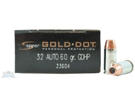 Speer 32 Auto/ACP 60gr Gold Dot Ammunition 20rds - 23604