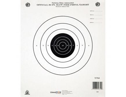 Champion 50 ft. Slowfire Pistol Target, 12 Pack - 45750
