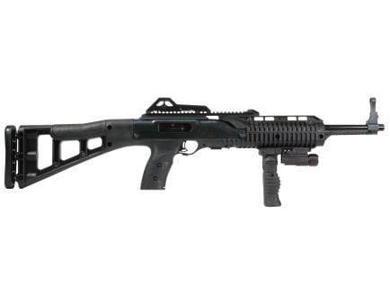 Hi-Point 995TS Carbine FGFL 9mm Luger 10 Round Semi Auto Rifle with Forward Grip and Flashlight, Skeletonized - 995FGFLTS