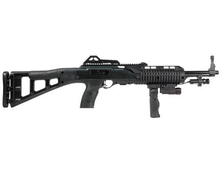 Hi-Point 995TS Carbine FGFL-LAZ 9mm Luger 10 Round Semi Auto Rifle with Forward Grip, Flashlight and Laser, Skeletonized - 995FGFLLAZTS