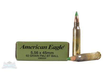 American Eagle 5.56mm 62gr FMJBT Ball Ammunition 20rds - XM855F
