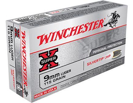 Winchester 9mm 115gr SilverTip Hollowp Point Super-X Ammunition 50rds - X9MMSHP