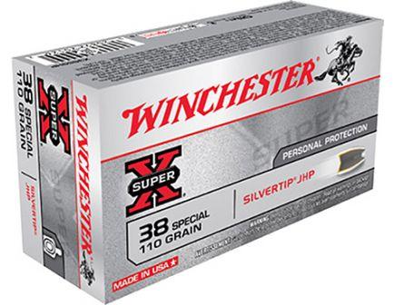 Winchester 38 Special 110gr SivlerTip Hollow Point Ammunition 50rds - X38S9HP