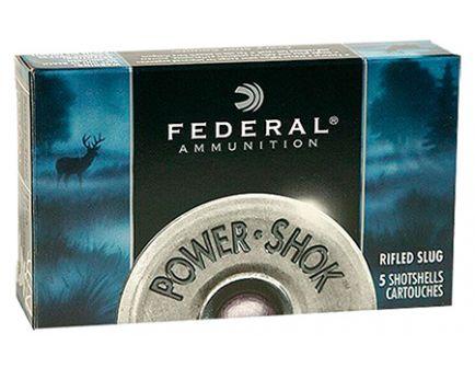 "Federal 12ga 2.75"" Magnum 1.25oz HP Power-Shok Rifled Slug Shotshell Ammunition 5rds - F130 RS"