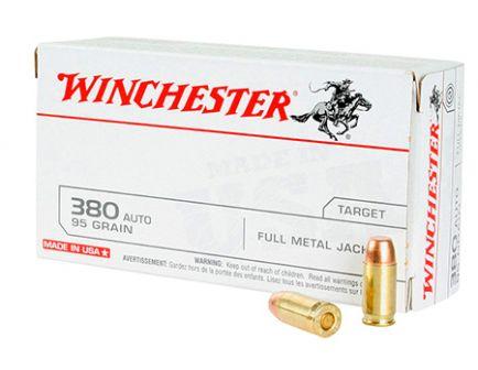 Winchester USA 380 Auto/ACP 95gr FMJ Ammunition 100rds Value Pack - USA380VP