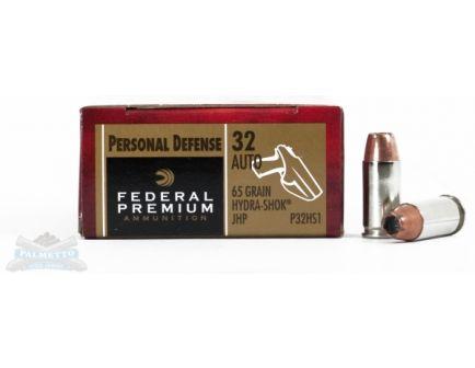 Federal 32 Auto/ACP Hydra-Shock Ammunition 20rds - P32HS1