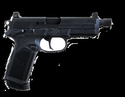 "FN FNX-45 Tactical .45 ACP Pistol 5.3"", Black - 66966"
