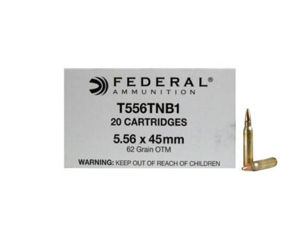 Federal 5.56mm 62gr OTM MK318 MOD 0 Ammunition 20rds - T556TNB1