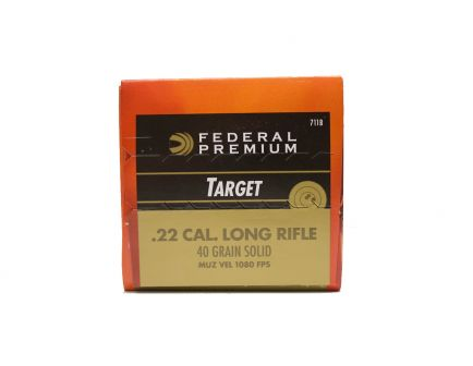 Federal .22 LR 40 gr Gold Medal Rimfire 500 Rounds Ammunition - 711B