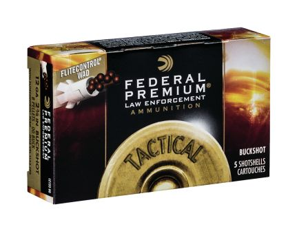 "Federal 12ga 2.75"" 8 Pellets 00 Buck w/FliteControl Tactical LE Shotshell Ammo, 5 Rounds - LE13300"