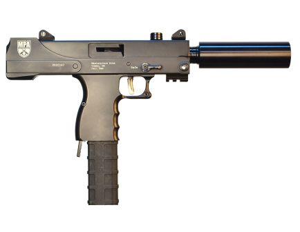 Masterpiece Arms Defender 9mm 30 Round Semi Auto Blowback Pistol, Black - MPA30T