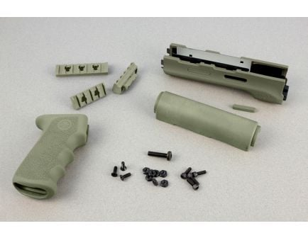 Hogue AK-47/AK-74 (Longer Yugo Version) Kit OM Grip and Forend OD Green Forend - 74218