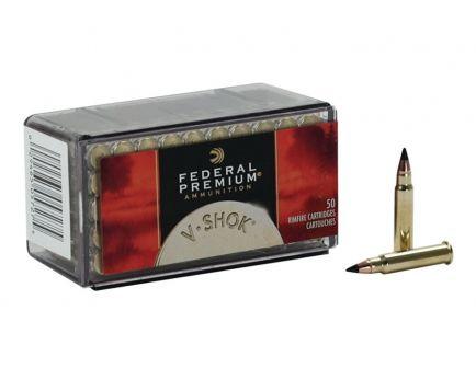Federal Premium V-Shok 17 HMR 17 gr V-Max 50 Rounds Ammunition - P771