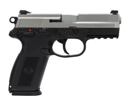 """FN Model FNX-9 9mm 4"""" Pistol, Two-Tone Stainless/Black - 66826"""