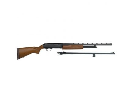 "Mossberg 500 Youth Bantam Field/Deer Combo 22""/24"" 20 Gauge Shotgun 3"" Pump, Wood - 54188"