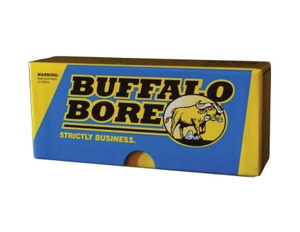 Buffalo Bore 45-70 Mag 430 grain LBT - Lead Flat Nose Lever Gun Rifle Ammo, 20/Box - 8A/20