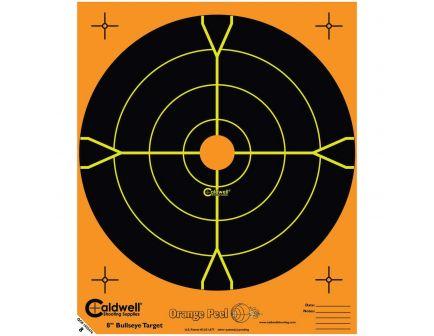 """Caldwell Orange Peel 5.5"""" Bullseye Target, Orange/Black, 50/pack - 555050"""