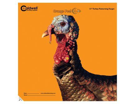 "Caldwell Orange Peel 12"" Self-Adhesive Animal Shooting Turkey Target, Orange/Black, 5 Sheet/pack - 586485"