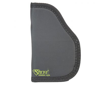 Sticky Holsters Large Ambidextrous Hand Concealment Short Modified Holster, Black with Green Logo - LG6SMOD LS