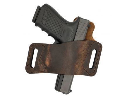 Versacarry Protector S1 Size 3 Right Hand Outside the Waistband Holster, Distressed Brown - WBOWB23
