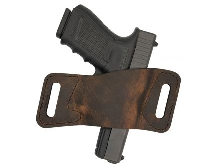 Versacarry Rapid Slide S1 Size 1 Ambidextrous Hand Outside the Waistband Holster, Distressed Brown - WBAOWB21