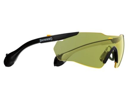 Browning SOUND SHIELD 1-Piece Ear/Eye Protection Glasses w/ Plug, Yellow Lens - 12744