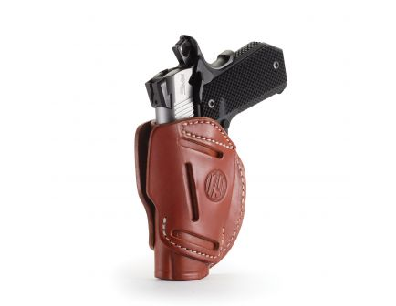 """1791 Gunleather 3WH-1 Ambidextrous 3"""" to 4"""" Barrel 1911 OWB Open-Top Concealment 3-Way Holster, Classic Brown - 3WH-1-CBR-A"""