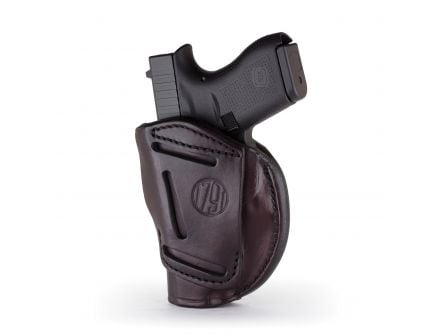 """1791 Gunleather 4WH-1 Size 1 Right Hand 3"""" to 4"""" Barrel 1911 IWB/OWB Concealment 4-Way Holster, Signature Brown - 4WH-1-SBR-R"""