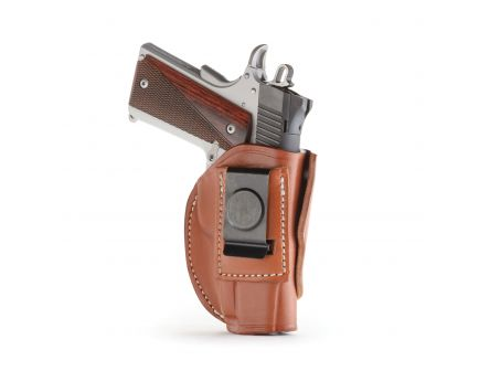 """1791 Gunleather 4WH-1 Size 1 Right Hand 3"""" to 4"""" Barrel 1911 IWB/OWB Concealment 4-Way Holster, Classic Brown - 4WH-1-CBR-R"""