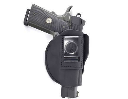 1791 Gunleather 4WH-4 Size 4 Right Hand IWB/OWB Concealment 4-Way Holster, Stealth Black - 4WH-4-SBL-R