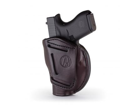 1791 Gunleather 4WH-5 Size 4 Right Hand IWB/OWB Concealment 4-Way Holster, Signature Brown - 4WH-4-SBR-R