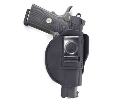 1791 Gunleather 4WH-5 Size 5 Right Hand IWB/OWB Concealment 4-Way Holster, Stealth Black - 4WH-5-SBL-R