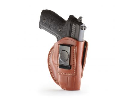 1791 Gunleather 4WH-4 Size 5 Right Hand IWB/OWB Concealment 4-Way Holster, Classic Brown - 4WH-5-CBR-R