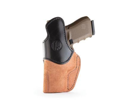 1791 Gunleather RCH Right Hand Glock 17 IWB Rigid Concealment Holster, Black/Brown - RCH-4-BLB-R
