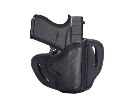 1791 Gunleather CF-BHC Right Hand Glock 43 OWB Open-Top Holster, Stealth Black - CF-BHC-SBL-0R