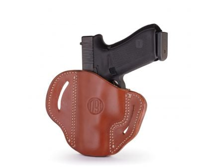 1791 Gunleather BH2.1 Right Hand Glock 17 OWB Open-Top Multi-Fit Holster, Classic Brown - BH2.1-CBR-R