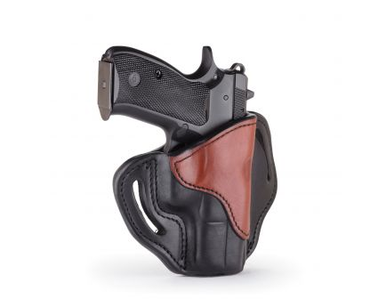 1791 Gunleather BH2.1 Right Hand Glock 17 OWB Open-Top Multi-Fit Holster, Black/Brown - BH2.1-BLB-R