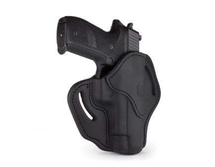 1791 Gunleather BH2.3 Right Hand Glock 17 OWB Open-Top Multi-Fit Holster, Stealth Black - BH2.3-SBL-R