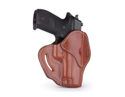 1791 Gunleather BH2.3 Right Hand Glock 17 OWB Open-Top Multi-Fit Holster, Signature Brown - BH2.3-SBR-R