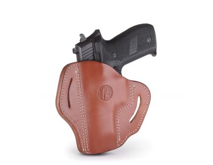1791 Gunleather BH2.3 Right Hand Glock 17 OWB Open-Top Multi-Fit Holster, Classic Brown - BH2.3-CBR-R