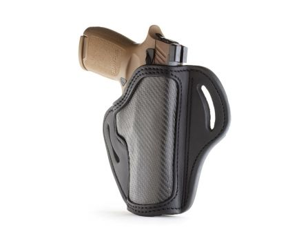 1791 Gunleather CF-BH2.4 Right Hand Sig P320 OWB Open-Top Multi-Fit Holster, Stealth Black - CF-BH2.4-SBL-R