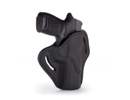1791 Gunleather BH2.4 Right Hand Sig P320 OWB Open-Top Multi-Fit Holster, Stealth Black - BH2.4-SBL-R