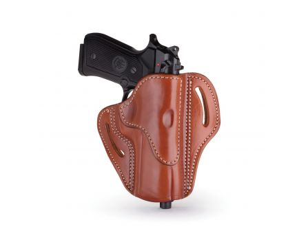 1791 Gunleather BH2.4 Right Hand Sig P320 OWB Open-Top Multi-Fit Holster, Classic Brown - BH2.4-CBR-R