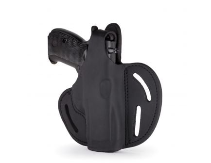 """1791 Gunleather BHX-1 Right Hand 4"""" to 5"""" Barrel 1911 OWB Thumbreak Holster, Stealth Black - BHX-1-CL-SBL-R"""
