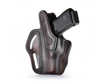 """1791 Gunleather BHX-1 Right Hand 4"""" to 5"""" Barrel 1911 OWB Thumbreak Holster, Signature Brown - BHX-1-CL-SBR-R"""