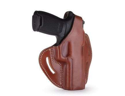 """1791 Gunleather BHX-1 Right Hand 4"""" to 5"""" Barrel 1911 OWB Thumbreak Holster, Classic Brown - BHX-1-CL-CBR-R"""